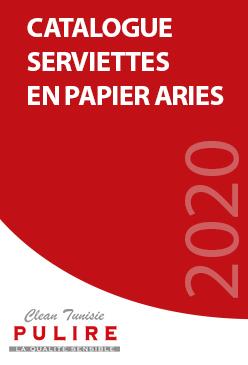 Catalogue Serviettes en papier Aries